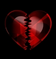 cracked heart-crystal vector image vector image