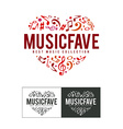 Music Fave Logo vector image vector image