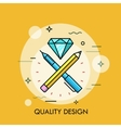 Abstract of quality design vector image