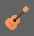 acoustic guitar icon music instrument concept vector image