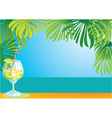 border with cocktail vector image