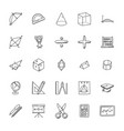 collection of mathematics doodles vector image