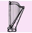 concert harp vector image