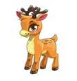 Cute cartoon baby deer vector image