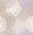 Lace seamless pattern with flowers on beige vector image