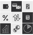 Money finance banking icons set vector image