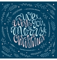 We wish you a merry Christmas handdrawn lettering vector image