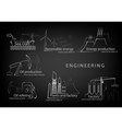 set engineering engineering in production and vector image