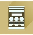 Flat icon with long shadow economic document vector image