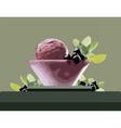 Ice Cream Bowl vector image