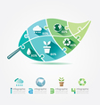 Green Leaves Design Elements Ecology Infographic vector image vector image