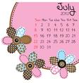 2012 july calendar vector image