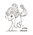Little cute cartoon fantasy unicorn vector image