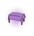 Table with tablecloth comics icon vector image