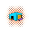 Industrial warehouse icon comics style vector image