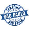Sao Paulo blue round grunge vintage ribbon stamp vector image