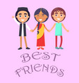 best friends international holiday for children vector image