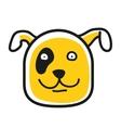 Cartoon animal head icon Dog face avatar vector image