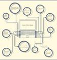 Concept laptop design template vector image