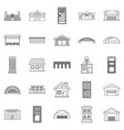 design icons set outline style vector image