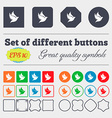 Dove icon sign Big set of colorful diverse vector image