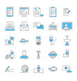 mass media and journalism thin line icon set vector image