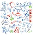 set of doodles vector image