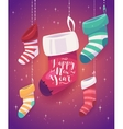 5 socks for gifts the new year vector image
