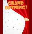 grand opening background with confetti vector image
