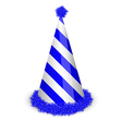 blue birthday cap vector image vector image
