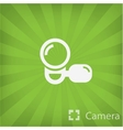 Video camera icon in minimal style vector image vector image