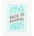 back to school poster design vector image vector image