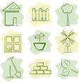 contryside life and gardening vector image vector image