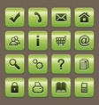 green buttons vector image