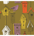 birdhouse screenprint vector image