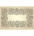 vintage frame with floral ornament vector image