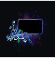 popart floral frame vector image vector image