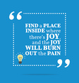 Inspirational motivational quote Find a place vector image