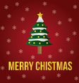 a red background with a christmas tree text and sn vector image
