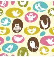Cartoon birds pattern vector image