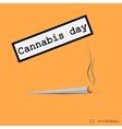 Cigarette with marijuana vector image