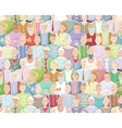 Colorful People Background Seamless Pattern vector image
