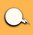 comic bubble halftones vector image