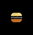 fast food burger logotype vector image