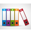 File Folder Infographic design template vector image