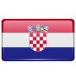 Flags Croatia in the form of a magnet on vector image