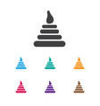 of infant symbol on pyramid vector image