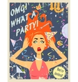 Party invitation design vector image
