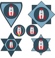 set of chevrons with a spaceship vector image