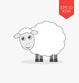 Sheep icon Flat design gray color symbol Modern UI vector image
